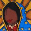 """""""Pintando"""" estrellas para la Virgen Morena"""