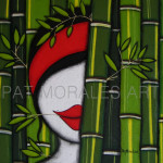 """El bambú se """"pinta"""" como un símbolo que  gran estima !"""