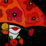 """Pintando"" amapolas en la lluvia."